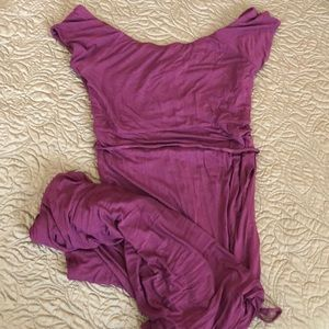 Berry Colored Jessica Simpson maternity maxi dress